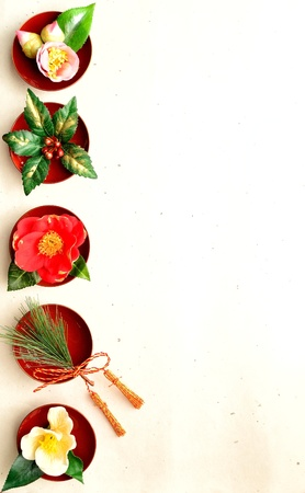 japanese winter flowers. Banco de Imagens