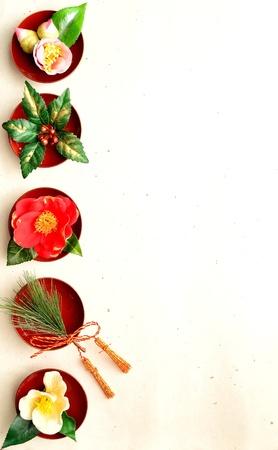 japanese winter flowers. Stock Photo