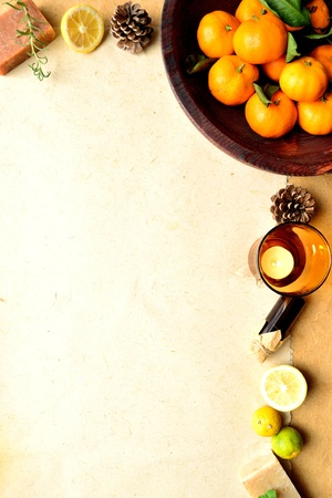 citrus fruits and aromatherapy photo