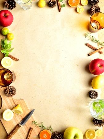 cuchillo de cocina: Frutas, hierbas y utensilios de cocina