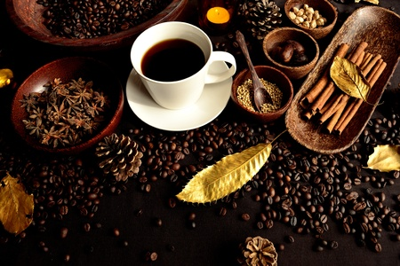 Spice and hot coffee