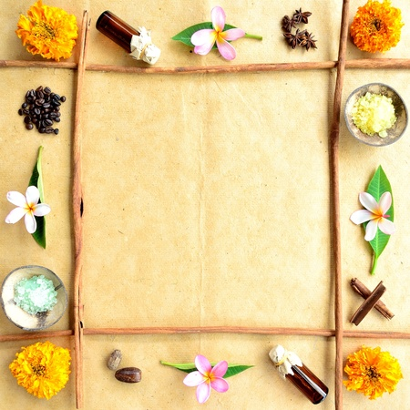 Asian tropical flower and spa supplies  Stock Photo
