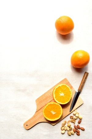 Orange with nuts