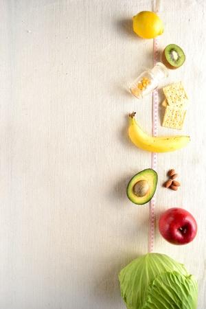 건강 식품 및 테이프 측정