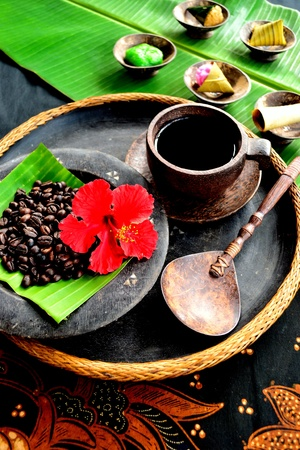 Indonesian coffee with Balinese cake