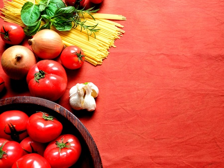 Tomato,vegetable and pasta photo