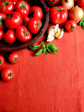 Tomato,vegetable and herb photo