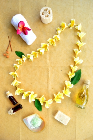 Plumeria lei and spa supplies Stock Photo - 14419155