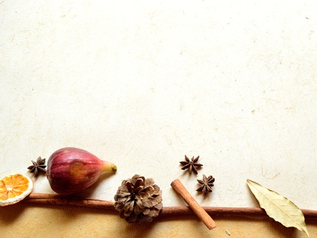 Fig,spice and pine cone image of autumn