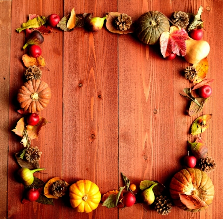Pumpkin,fall leaf and autumn fruit photo