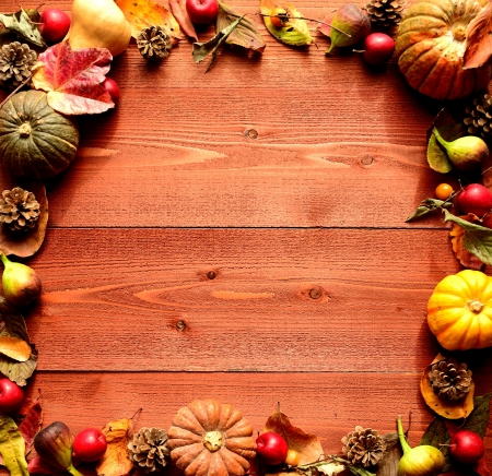 Pumpkin,fall leaf and autumn fruit