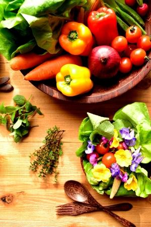 Vegetables with salad 写真素材