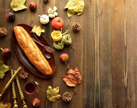Bread with Italian food image of autumn