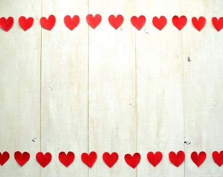 バレンタインの s 日の赤いハート画像 写真素材