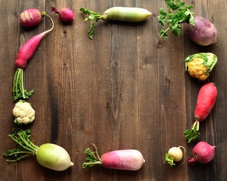 root vegetables: Colorful spring root vegetables