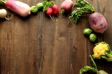 root vegetables: Colorful root vegetables