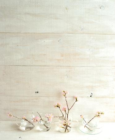 木製白地桜