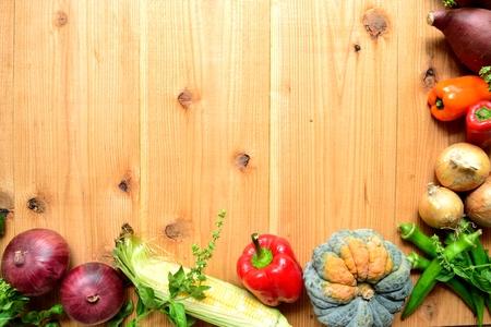 Summer vegetables frame