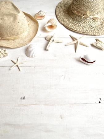 Straw hat,panama hat with shells