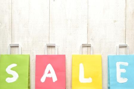bargain: Pastel colors bargain sale shopping bags