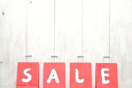 bargain: Red bargain sale shopping bags