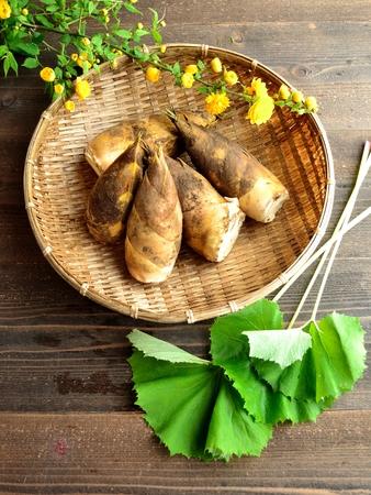 butterbur: Bamboo shoots,butterbur and Japanese kerria