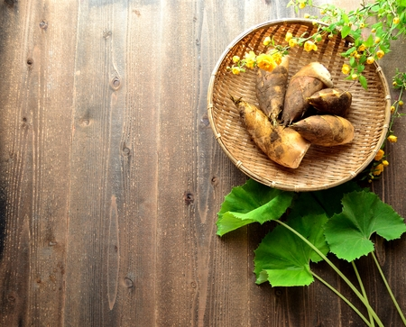 butterbur: Bamboo shoots, butterbur and Japanese kerria