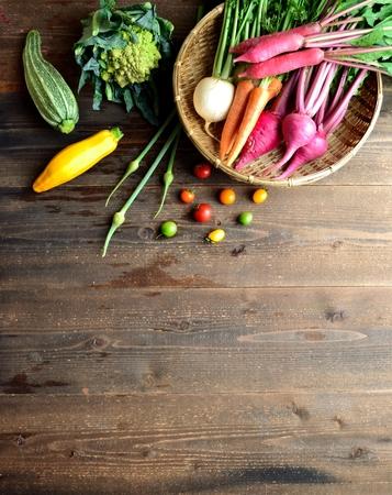 root vegetables: Colorful ortaggi a radice con zucchine Archivio Fotografico