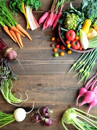 root vegetables: Ortaggi a radice con verdure estive