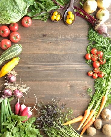 カラフルな野菜 写真素材