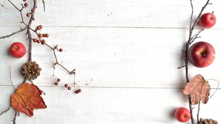 pomme de pin: Apple, pomme de pin et de feuilles d'automne