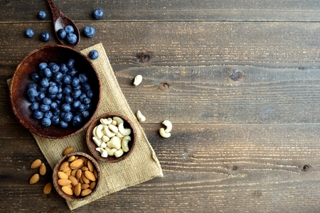 Blueberries,almonds and cashew nuts
