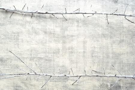 White dead branch frame