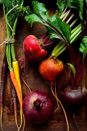 3 kleuren bieten, wortel en geroeste bak