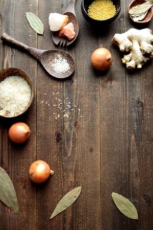 Indian food ingredients Stock Photo