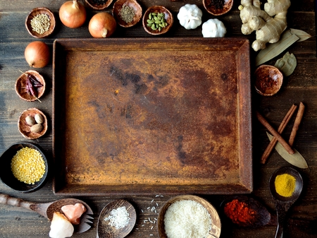 Spices and Indian food ingredients Banco de Imagens