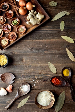 Spices and Indian food ingredients Imagens