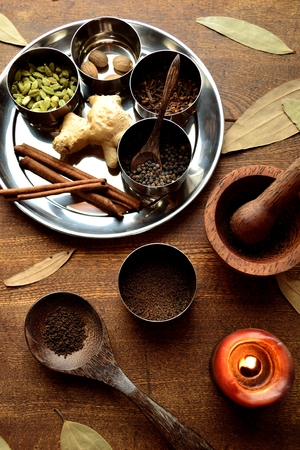 Spices with mortar