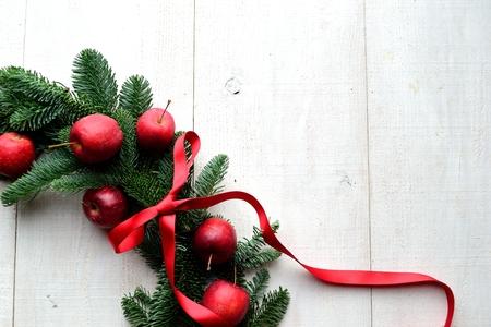 Apples Christmas wreath 写真素材
