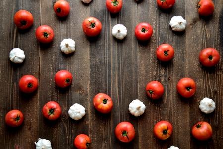 Tomatoes and garlic.frame