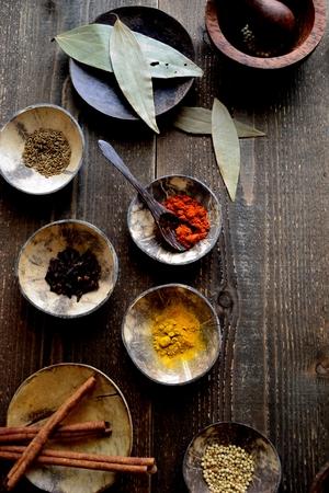 Indian food ingredients Imagens