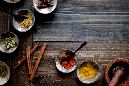 Indian food ingredients Imagens