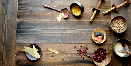 Indian food ingredients Stockfoto