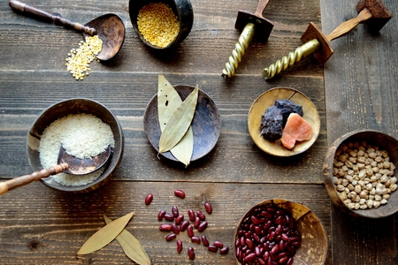 Indian food ingredients Stock Photo