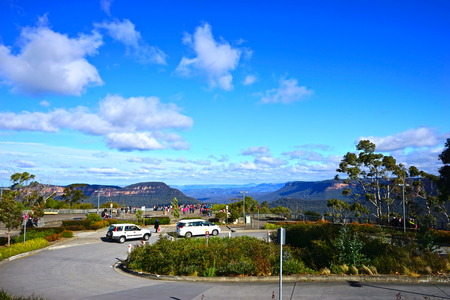 distantly: Blue sky at Blue mountain Stock Photo