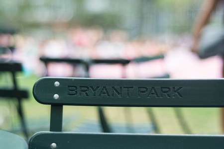 bryant: Green chair in Bryant Park, New York City