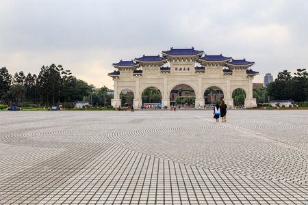 TAIWAN, TAIPEI - May 23, 2017 Chiang Kai Shek memorial hall. Famous monument. Editorial