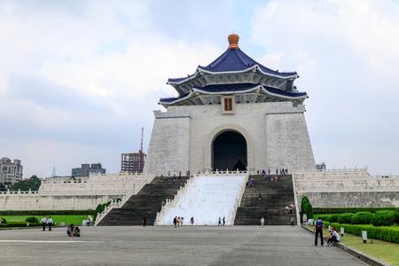 TAIWAN, TAIPEI - May 23, 2017 Chiang Kai Shek memorial hall. Famous monument. Redakční