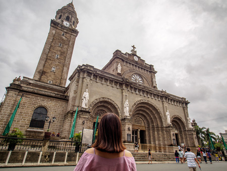 Aug 28, 2016 Manila Cathedral, Intramuros, Manila, Philippines - Famous landmark