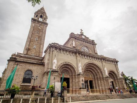 spaniards: Aug 28, 2016 Manila Cathedral, Intramuros, Manila, Philippines - Famous landmark